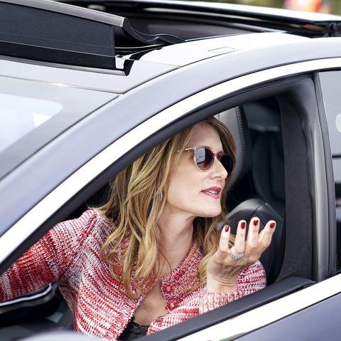 Eyewear, Sunglasses, Vehicle, Beauty, Street fashion, Car, Automotive design, Vehicle door, Lip, Fashion,