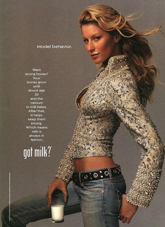 Vintage PRINT AD Page Supermodel CHRISTIE BRINKLEY Milk Mustache 1995 Got Milk