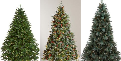 7ft pre lit christmas trees - Already Decorated Christmas Trees