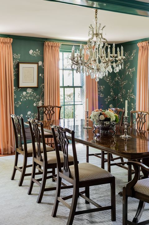 Eye-Catching Dining Rooms with Floral Wallpaper - How to Use ...