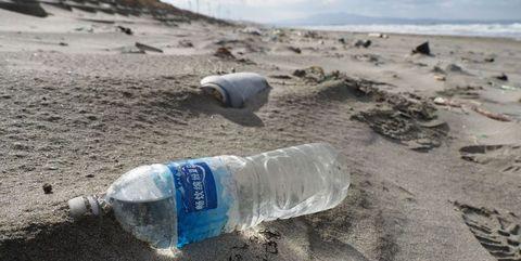 Water, Litter, Water bottle, Waste, Plastic bottle, Pollution, Bottle, Bottled water, Drinking water, Sand,
