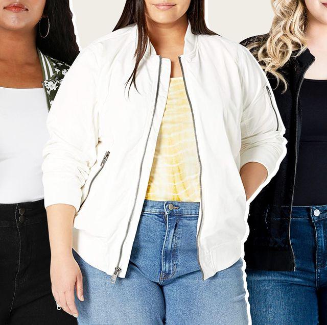 plus size womens bomber jackets