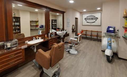 Property, Building, Room, Interior design, Furniture, Beauty salon, Real estate, Barber chair, Office, Floor,