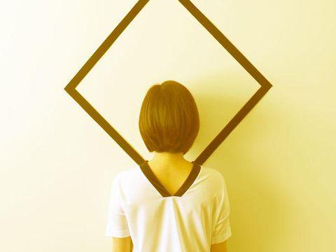 Yellow, Shoulder, Elbow, Back, Active shirt,