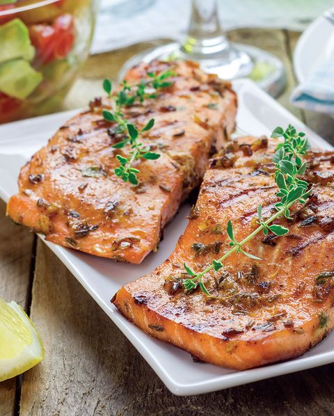 salmon cooked on plate