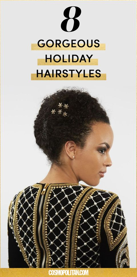 Christmas Hairstyles Easy.8 Easy Christmas Hairstyles Holiday Party Hair Tutorials