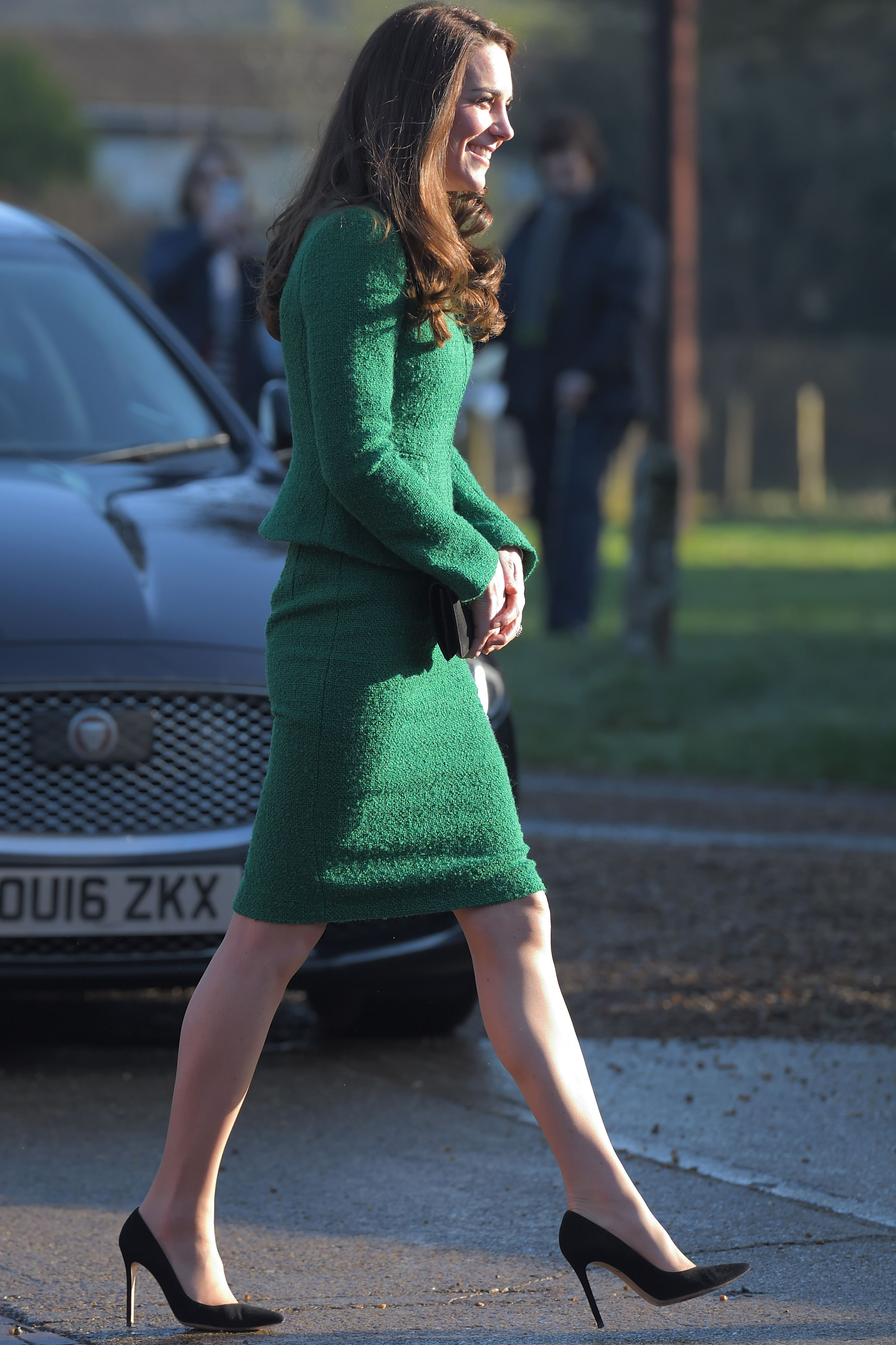 """Shop Now Gianvito Rossi """"Gianvito 105"""" Pumps in Black Suede, $675 In addition to her L.K. Bennett heels, Duchess Kate also is a fan of Gianvito Rossi's """"Gianvito 105"""" pumps, which she's seen wearing here in black to the Nook Appeal at EACH in January  2017 in Norfolk, England."""