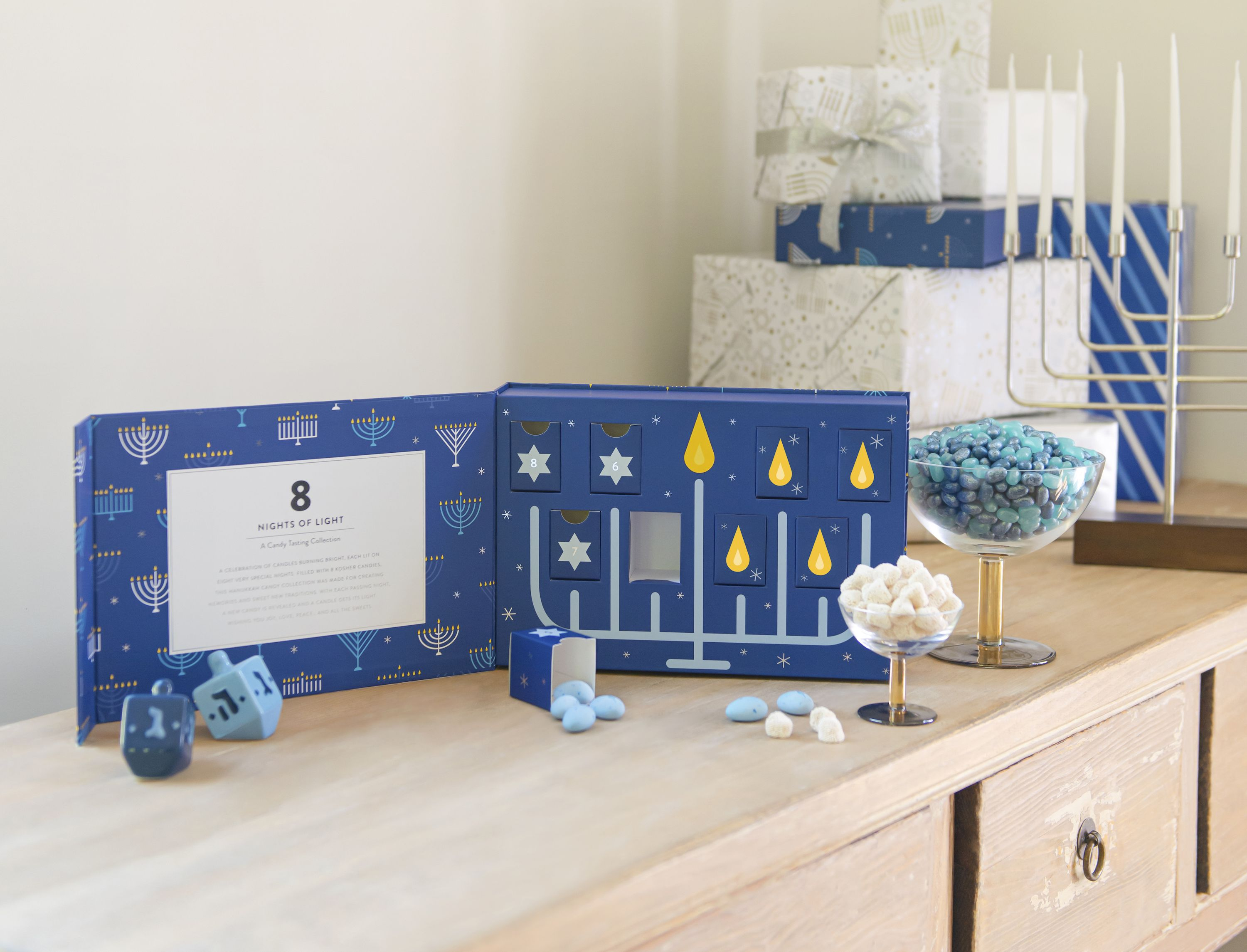 This 8-Day Candy Calendar Lets You Get In On The Advent Calendar Fun During Hanukkah