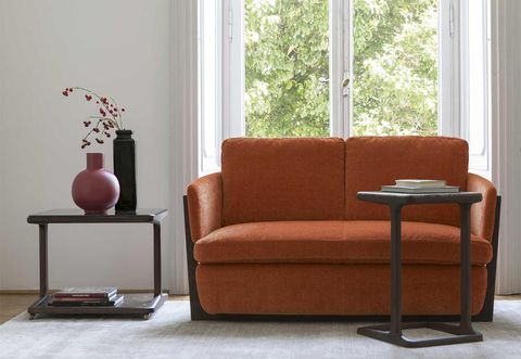 Furniture, Couch, Chair, Living room, Room, Brown, Sofa bed, Interior design, Loveseat, Table,