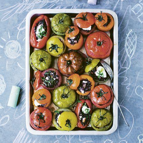 gevulde regenboogtomaten een recept voor het hele gezin
