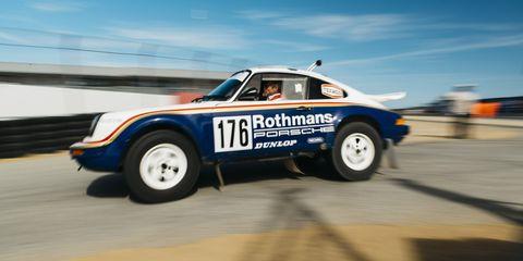 Land vehicle, Vehicle, Car, Porsche 959, Regularity rally, Coupé, Sports car, Motorsport, Racing, Race car,
