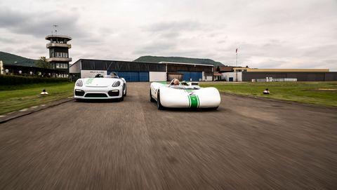 Porsche Boxster Bergspyder prototype and Porsche 909