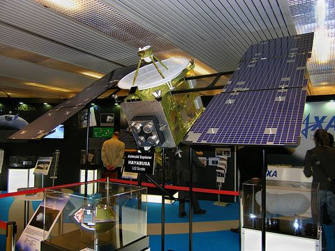 hayabusa model spacecraft
