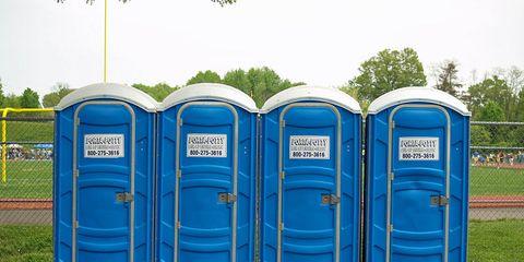 Porta-Potties Row of Porta Johns