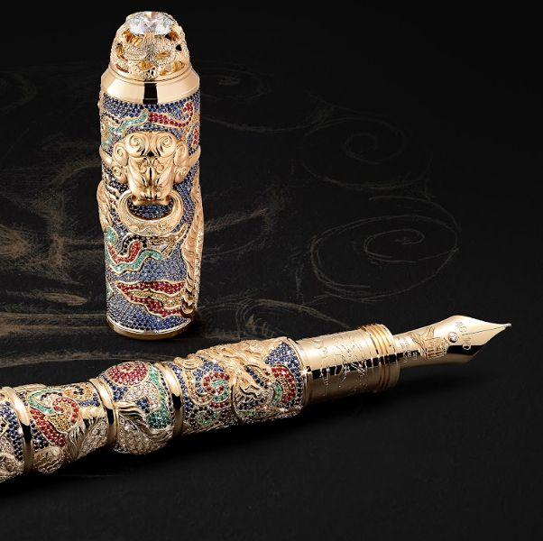 金色的萬寶龍藝術贊助系列萬里長城鋼筆