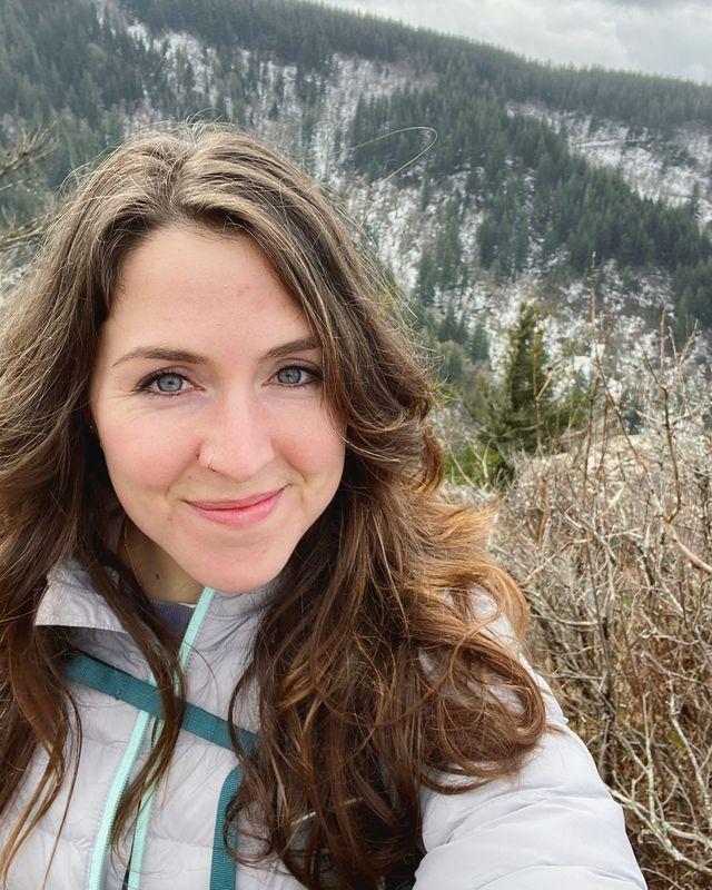 selfie on hiking trail