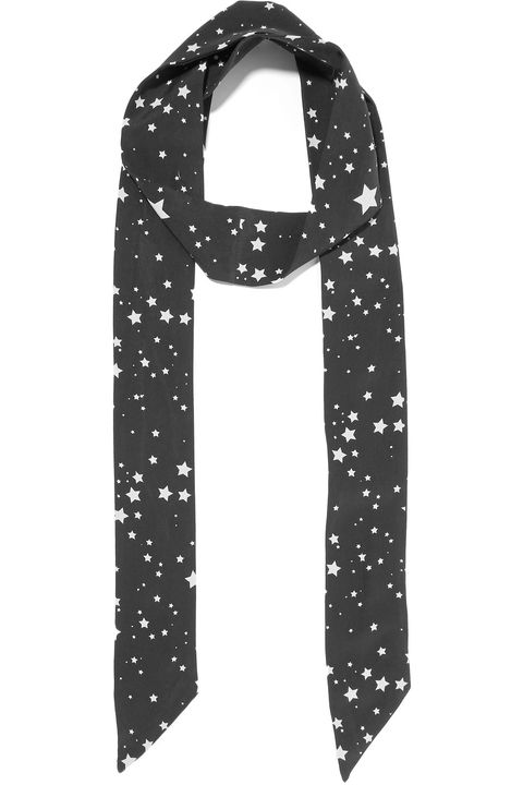 Clothing, Scarf, Pattern, Design, Polka dot, Fashion accessory, Font, Stole,
