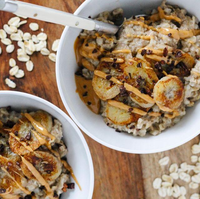 bowls of cauliflower oatmeal