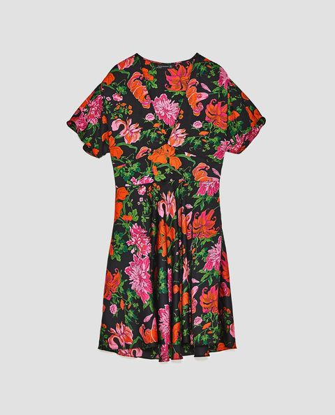 Clothing, Day dress, Sleeve, T-shirt, Pink, Dress, Pattern, Textile, Top, Plant,