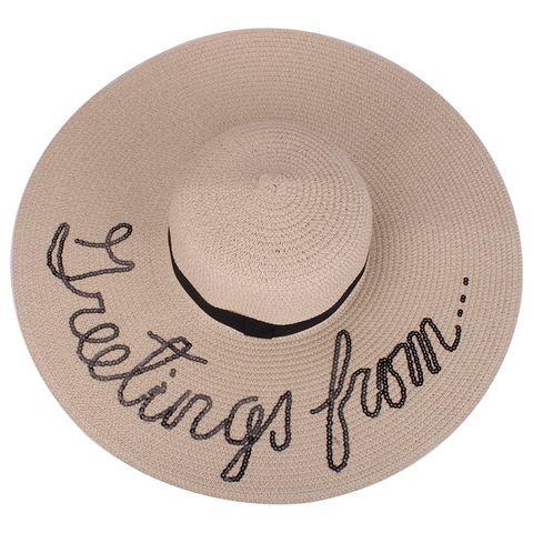 Hat, Font, Beige, Sun hat, Circle, Headgear, Fashion accessory, Logo, Cowboy hat,
