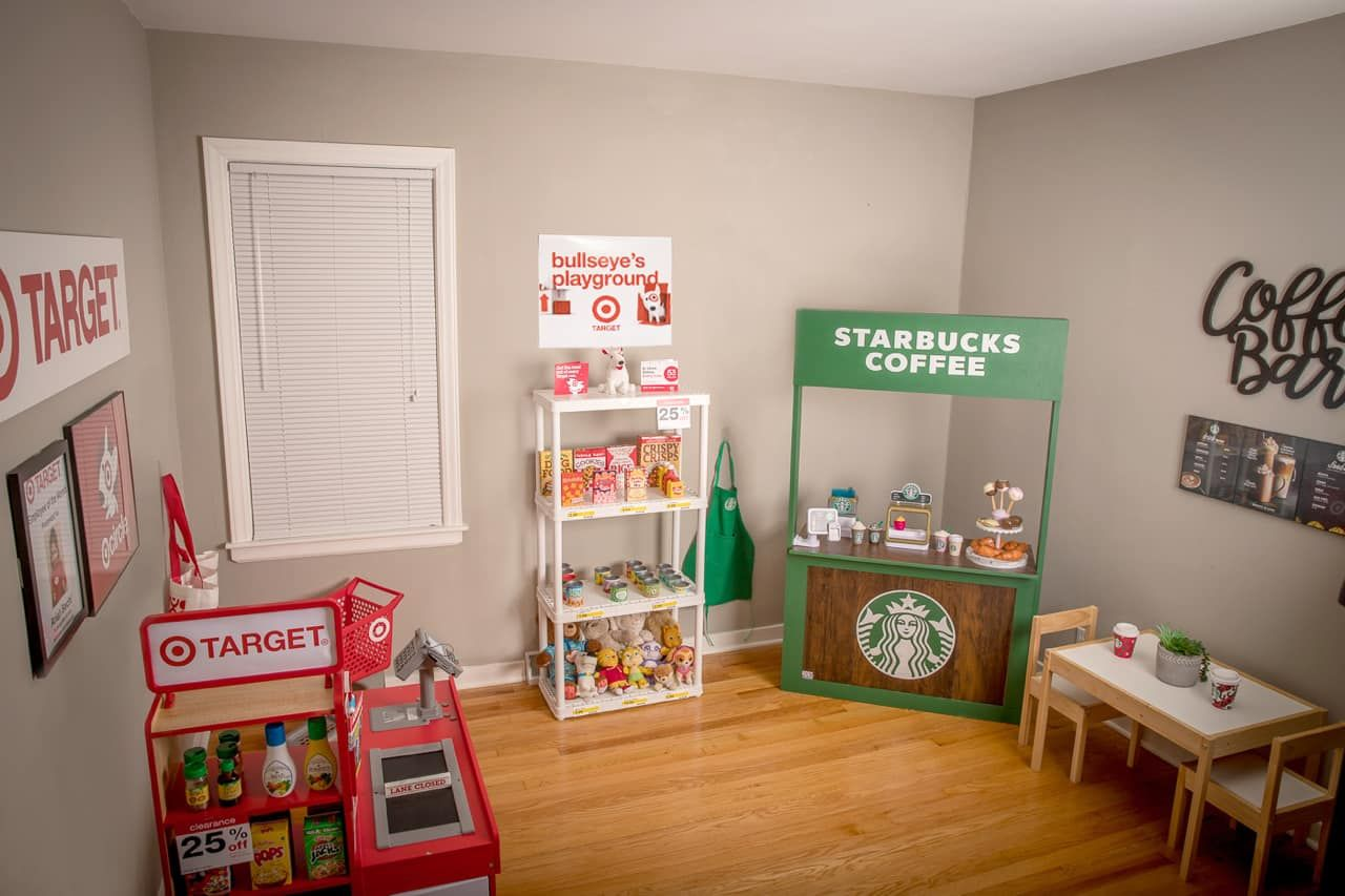 This 3-Year-Old's Playroom Was Modeled to Resemble a Target Store, and There's Even a Pretend Starbucks