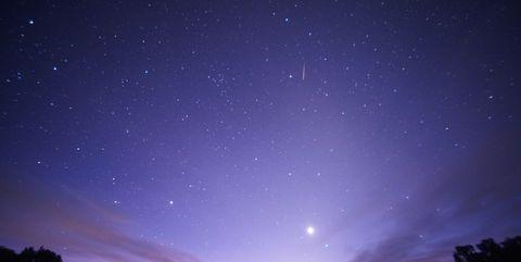 Sky, Blue, Night, Atmosphere, Cloud, Atmospheric phenomenon, Light, Astronomy, Star, Horizon,