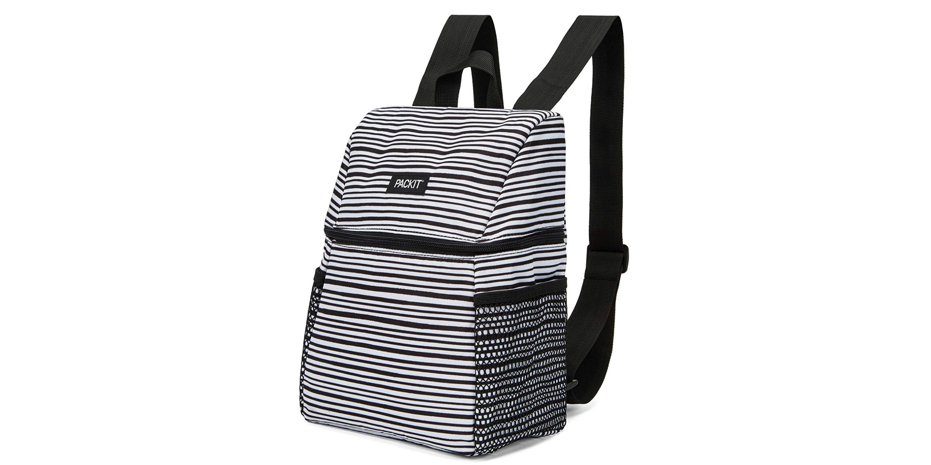Black Insulated Lunch Box Lunch Bag for Women Man Adults Kids for Work Thermal Insulated Canvas Large Cooler Box Lunch Tote Bag Reuable Thermal Cool Bag Bento Box for Boys Girls Work School