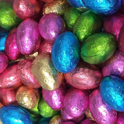 Huevos de chocolate en Pascua