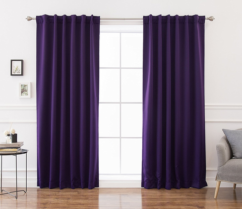 Curtain, Purple, Violet, Window treatment, Interior design, Textile, Lavender, Room, Magenta, Interior design,