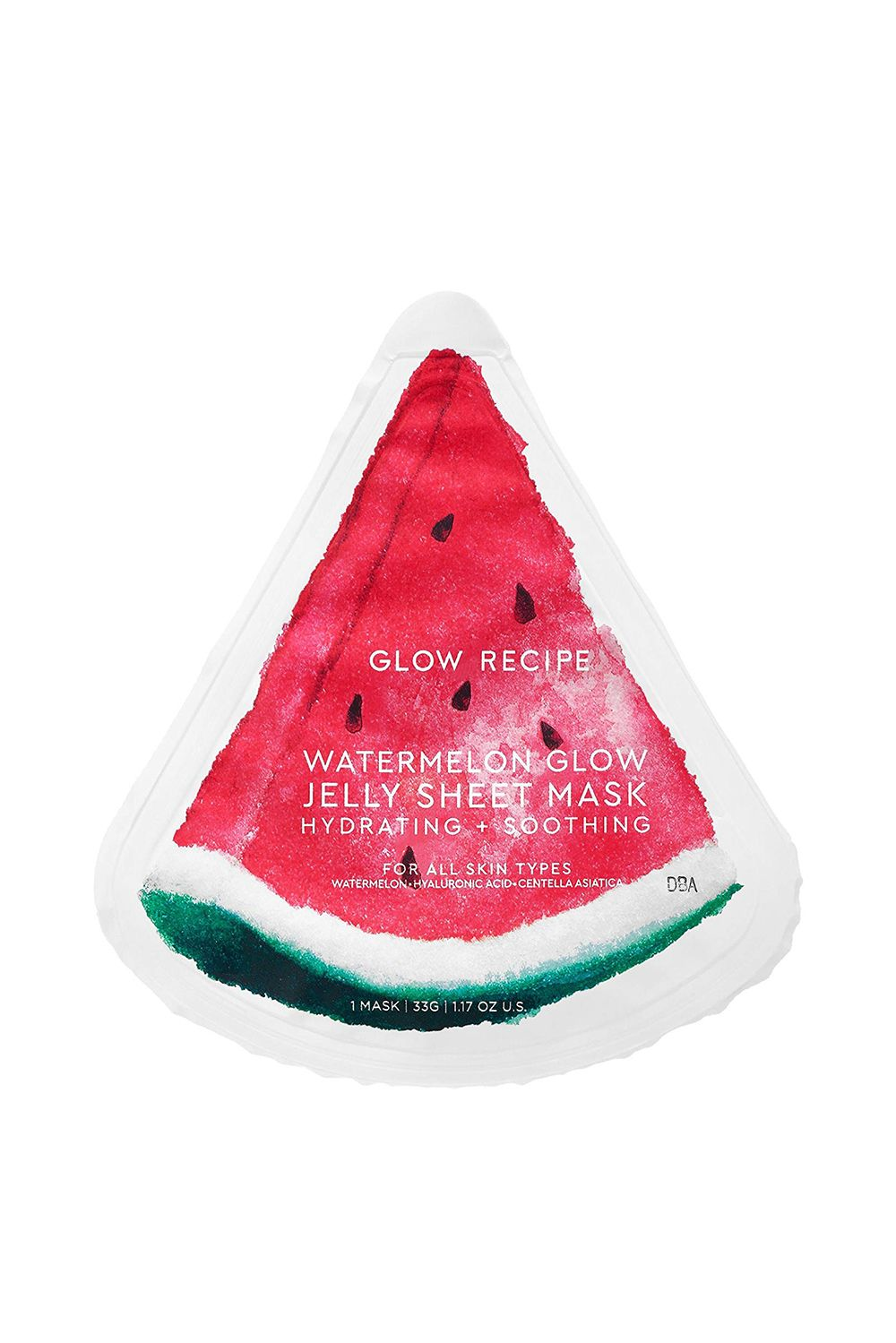 Glow Recipe Watermelon Glow Jelly Sheet Mask Glow Recipe Watermelon Glow Jelly Sheet Mask, $8 SHOP IT You'll obsess over the feeling of this oil-free, jelly hydrogel mask that will juice-up your skin with hydration. Plus, its transparent pink tint is super Instagrammable.