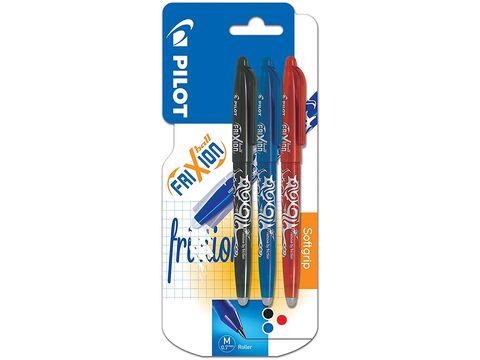Bolígrafo Frixion en tres colores