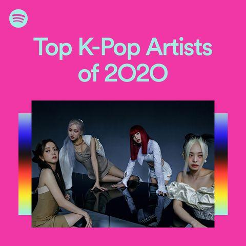 spotify 2020 k pop排名