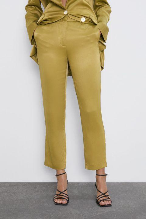 moda pantaloni 2019, pantaloni a vita alta, pantaloni di pelle, tendenze pantaloni 2019, pantaloni autunno inverno 2019 2020, pantaloni a palazzo,