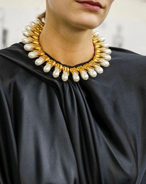schiaparelli tooth shaped necklace