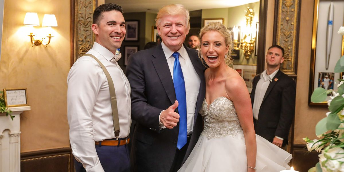 Donald Trump Crashes Wedding In Bedminster Bride Discusses Meeting