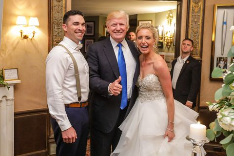 Bride And Groom Kristen Tucker Gladhill With President Trump