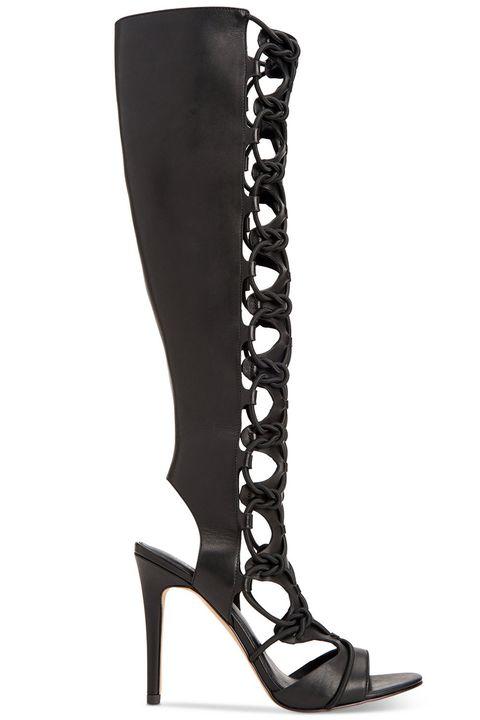Footwear, High heels, Boot, Knee-high boot, Shoe, Leg, Leather, Sandal, Durango boot, Suede,