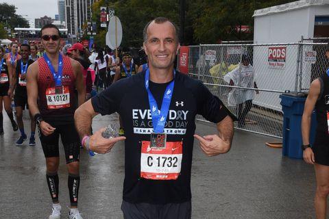 Shane Green finishes Chicago Marathon