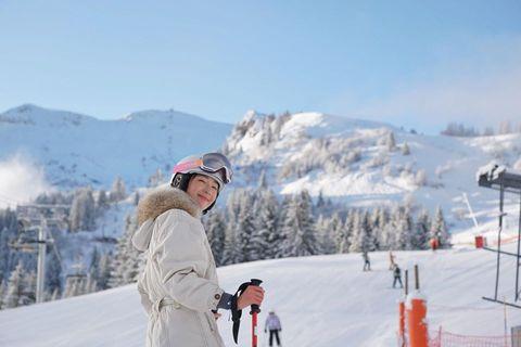 隋棠滑雪美照