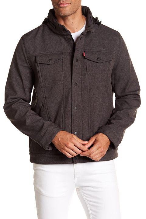 Clothing, Jacket, Outerwear, Sleeve, Hood, Pocket, Collar, Top, Beige, Zipper,