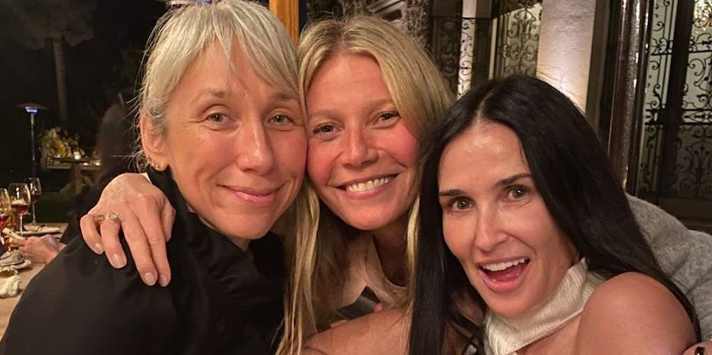 Gwyneth Paltrow, Demi Moore, and Kate Hudson Share Makeup-free Photos from Girls' Night