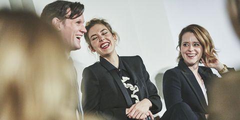Matt Smith, Vanessa Kirby and Claire Foy