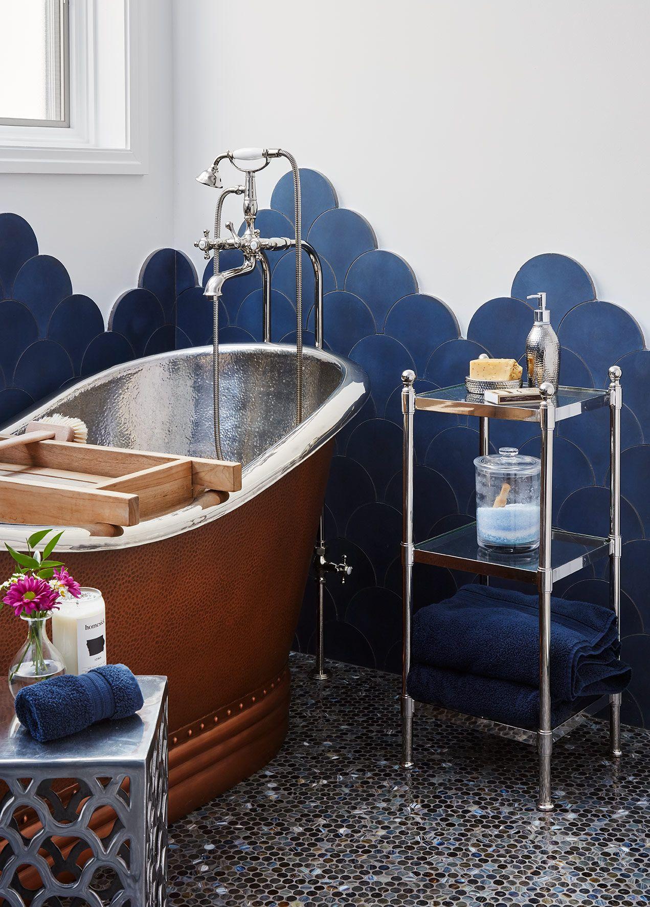 Creative Tile Turns A Scary 90s Bathroom Into A Fresh Fun Space
