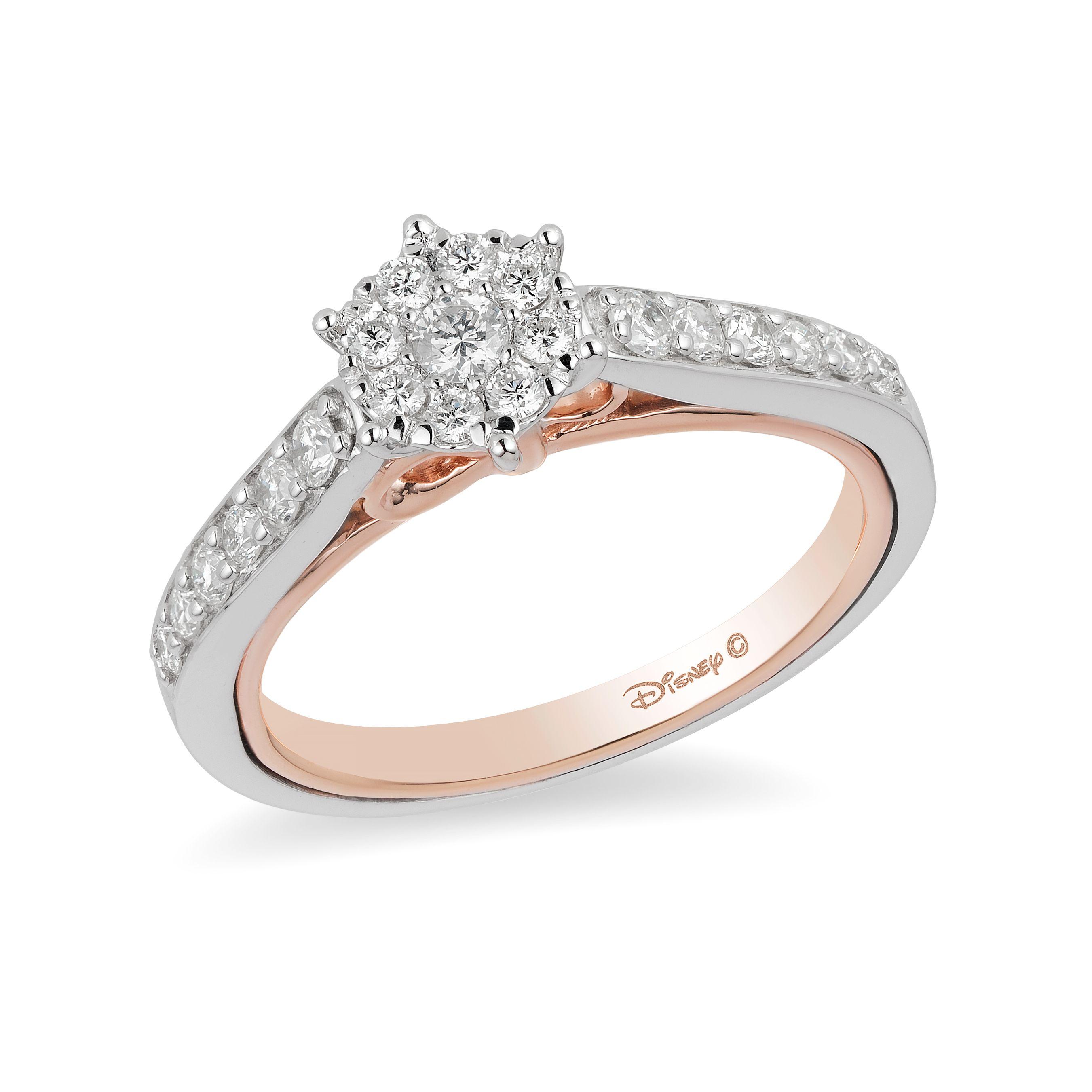 disney princess rings disney belle and cinderella jewellery