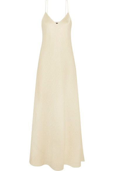 Clothing, Dress, White, Day dress, Yellow, Beige, Cocktail dress, Gown, A-line, Neck,