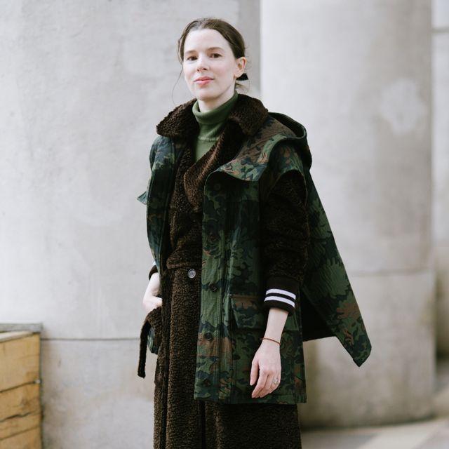 Fashion model, Clothing, Fashion, Street fashion, Coat, Fur, Footwear, Outerwear, Overcoat, Jacket,