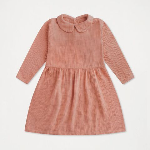 repose ams peter pan dress blushing peach