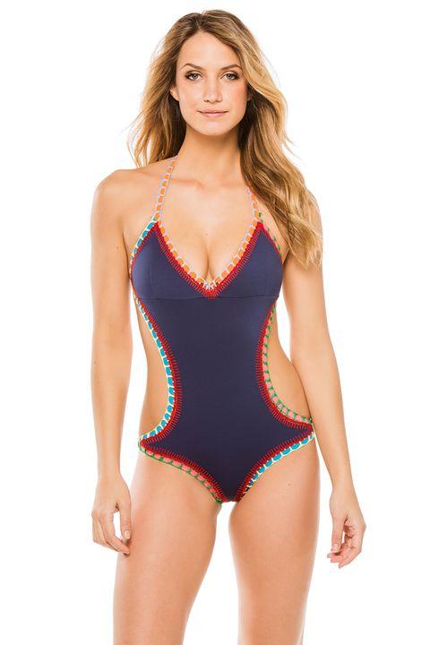 Shoulder, Swimwear, Joint, One-piece swimsuit, Leotard, Chest, Maillot, Thigh, Waist, Beauty,