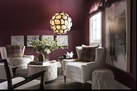 Room, Interior design, Lighting, Lampshade, Light fixture, Lighting accessory, Living room, Furniture, Ceiling, Lamp,