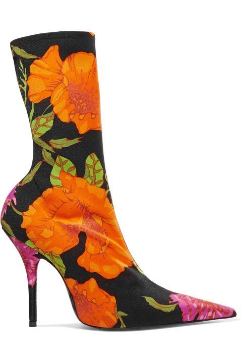 Footwear, Orange, Yellow, Shoe, Boot, High heels, Rain boot,